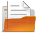 File, user, Account, people, Human, open, paper, document, profile Chocolate icon