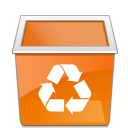 user, Human, Empty, Account, people, Trash, recycle bin, Blank, profile DarkOrange icon