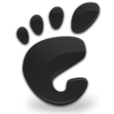 Black, Gnome, start, here DarkSlateGray icon