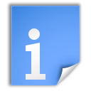 Nfo, Extension, Application CornflowerBlue icon