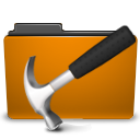 Development, Orange, Folder, Develop DarkGoldenrod icon