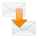 Message, envelop, Email, Letter, Move, mail WhiteSmoke icon