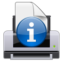 printer, Print, Information, report, Attention, about, gtk, Info Icon