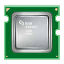 Cpu, processor DarkGreen icon