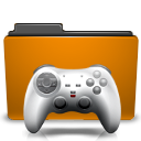 Game, Folder, gaming, Orange DarkGoldenrod icon