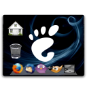 Desktop, Restore, Emblem Black icon