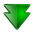 Downgrade, pack, package Green icon