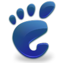 start, Gnome, Blue, here Black icon