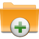 Archive, Add, Folder, plus, Kde Goldenrod icon