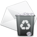 Del, Edit, envelop, remove, Email, delete, writing, mail, Letter, Message, write WhiteSmoke icon