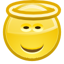 Angel, Emotion, Emoticon, Face, smiley Icon