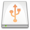 media, Usb, Removable, drive Snow icon