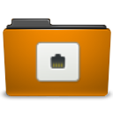Folder, Remote, Orange DarkGoldenrod icon