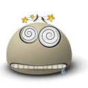 faint, Face, Emoticon, Emotion Gray icon