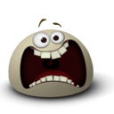 Face, Emoticon, scared, Emotion Gray icon