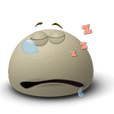 Emotion, Emoticon, Asleep, Face Gray icon