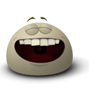 Face, Emoticon, laugh, Emotion Gray icon