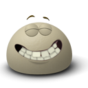 Emotion, Fun, Emoticon, funny, smile, Face, happy Gray icon