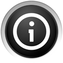 about, Black, Info, Information DarkSlateGray icon