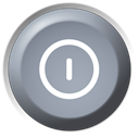 turn off, Remote, Power off, shutdown DarkGray icon