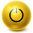 Bright, Ball, standby Goldenrod icon
