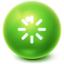Bright, Ball, Reboot YellowGreen icon