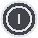 turn off, Power off, shutdown DarkSlateGray icon