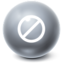 cancel, Ball, Bright, stop, no DimGray icon