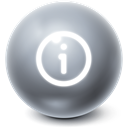 Bright, Info, Information, about, Ball DimGray icon