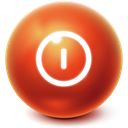 Ball, turn off, shutdown, Bright, Power off Firebrick icon