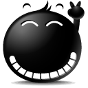 Emoticon, Face, Emotion Black icon