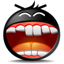 Face, Emoticon, Emotion Black icon