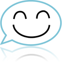 Comment, speak, talk, Face, Emotion, Emoticon, Chat SkyBlue icon