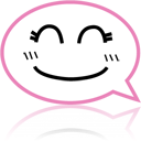 Emoticon, Emotion, Face, Comment, talk, Chat, speak HotPink icon