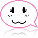 Face, Comment, speak, talk, Emotion, Emoticon, Chat HotPink icon