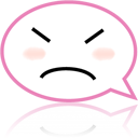 Face, Emotion, Emoticon, speak, talk, Chat, Comment HotPink icon