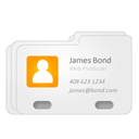 profile, business card, card, Vcard, james bond, Address, Contact WhiteSmoke icon