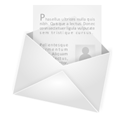 Letter, envelope, Email, envelop, Message, newsletter, mail WhiteSmoke icon