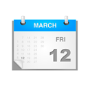 date, Calendar, Schedule WhiteSmoke icon