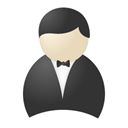 Resource, people, Human, Account, profile, user, smoking, Buttler DarkSlateGray icon