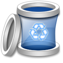 Blank, Trash, Empty, recycle bin DarkGray icon