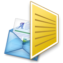 mail, Email, Letter, envelop, Message Goldenrod icon