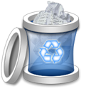 Full, Trash, recycle bin DarkGray icon