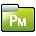 pagemaker, adobe YellowGreen icon