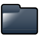 Folder, generic, Black DarkSlateGray icon