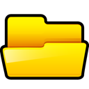 open, generic, yellow, Folder Gold icon