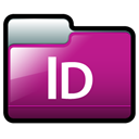 adobe, Indesign MediumVioletRed icon