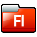 Flash, adobe OrangeRed icon