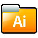 illustrator, adobe Orange icon