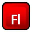 adobe, Cs, Flash Red icon